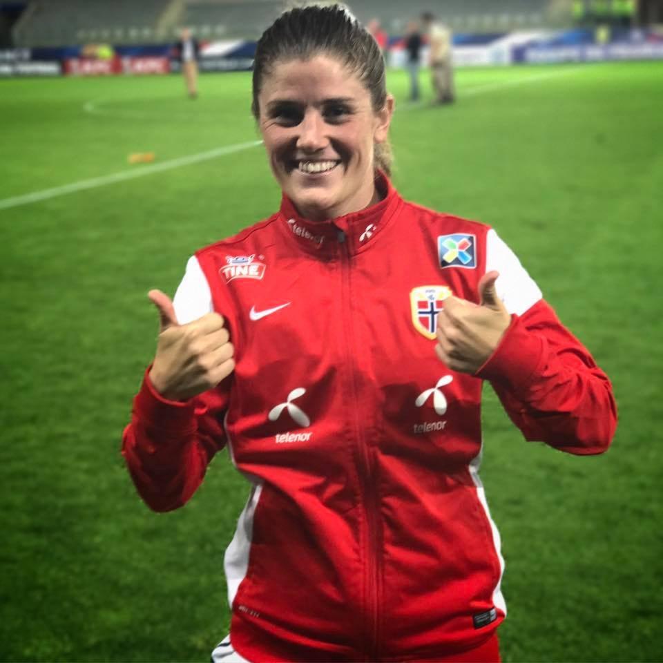 Maren Mjelde, Captain of the Norway National Team   Courtesy of Fotballandslaget