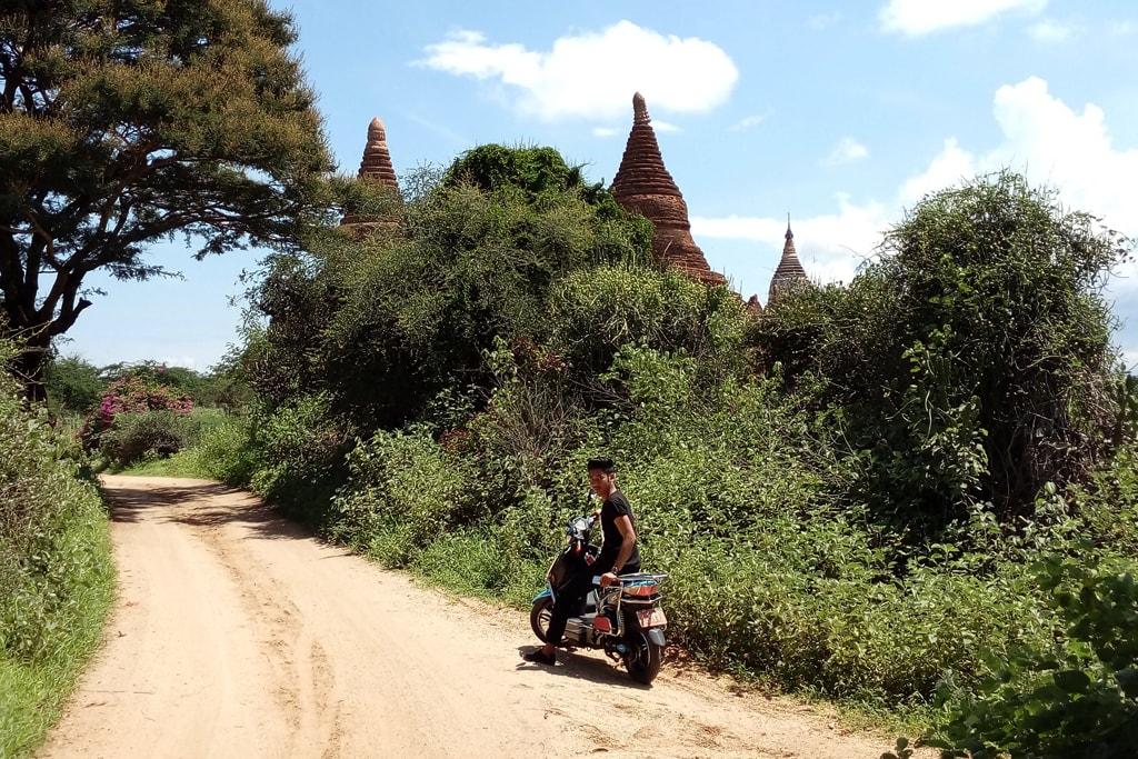 Motorbike-in-Bagan
