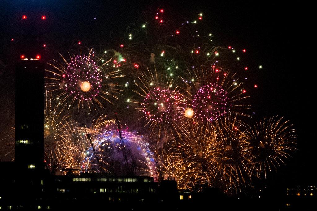 NYE Fireworks from Primrose Hill | © Alexander Baxevanis:Flickr