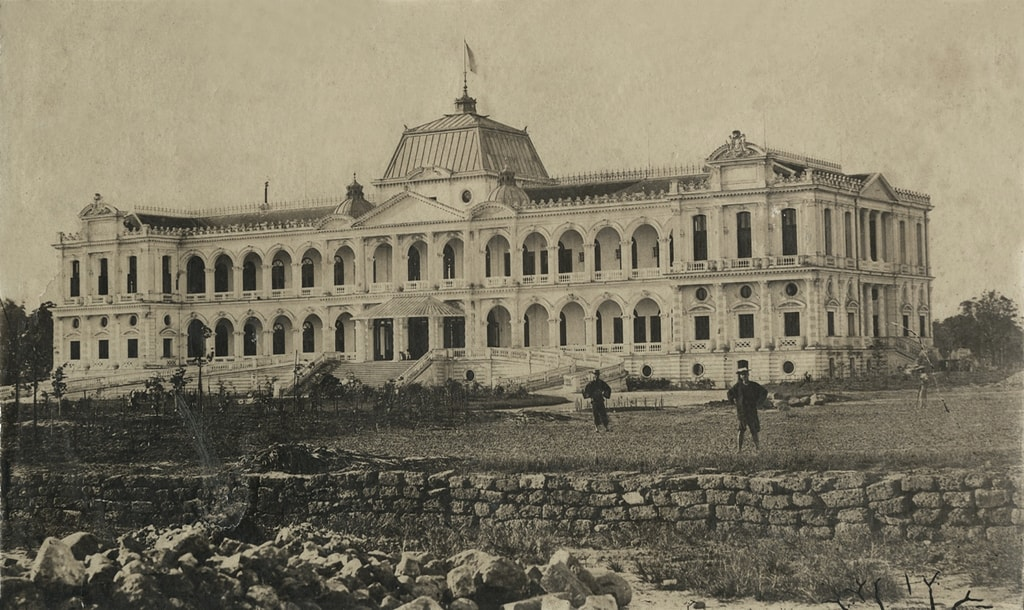 French Governor's Palace in Saigon (1875)   Original photo by Emile Gsell via Tommy Truong79/Flickr