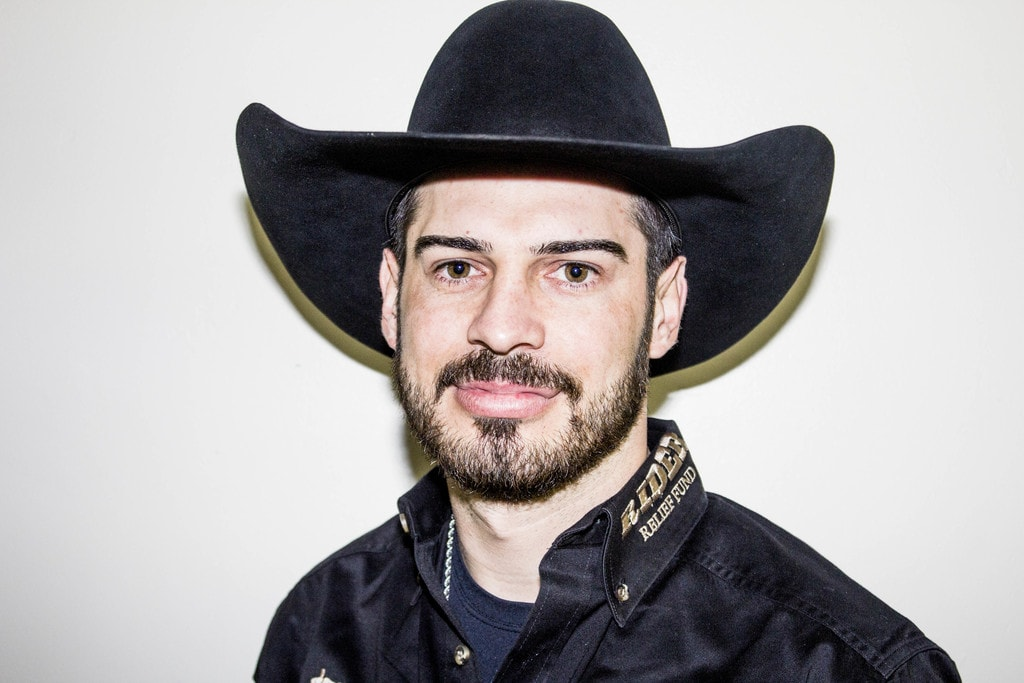Alex Cardozo before the second day of PBR
