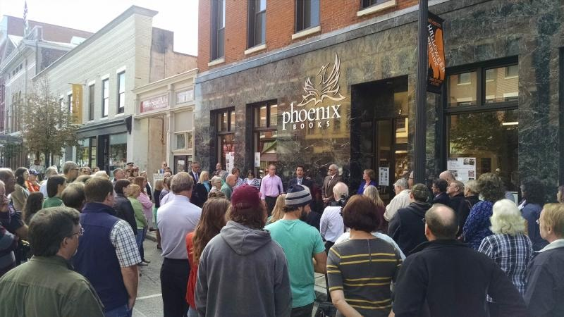 Phoenix Books Rutland opening courtesy Same Sun of Vermont
