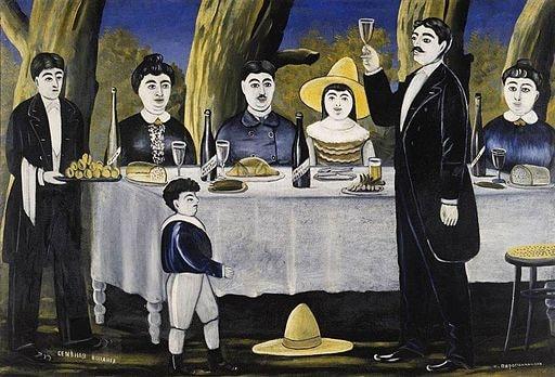 Pirosmani._Family_party