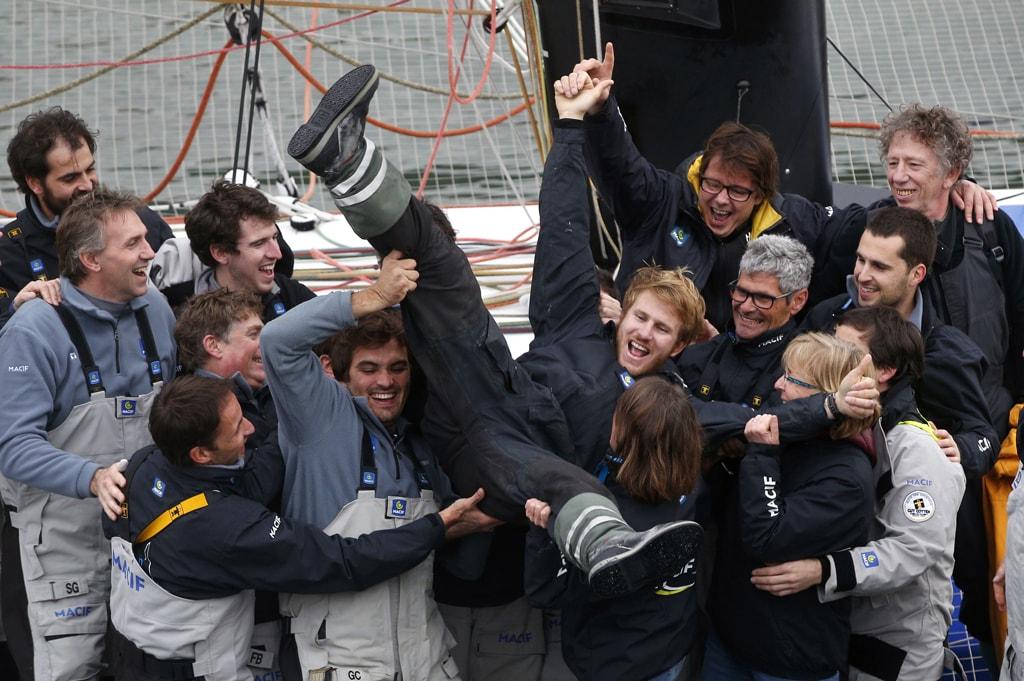 Solo Sailing Record, Brest, France - 17 Dec 2017