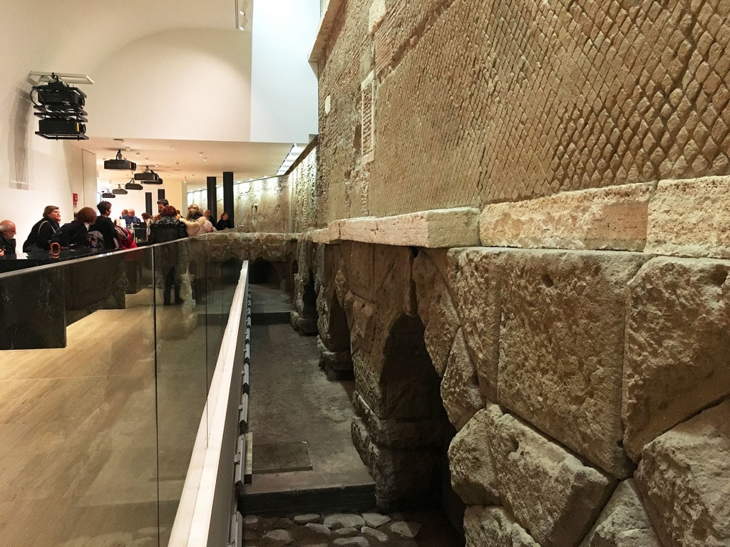 Sixty metres of the Aqua Virgo are on display in the basement of Rome's Rinascente | © Emma Law