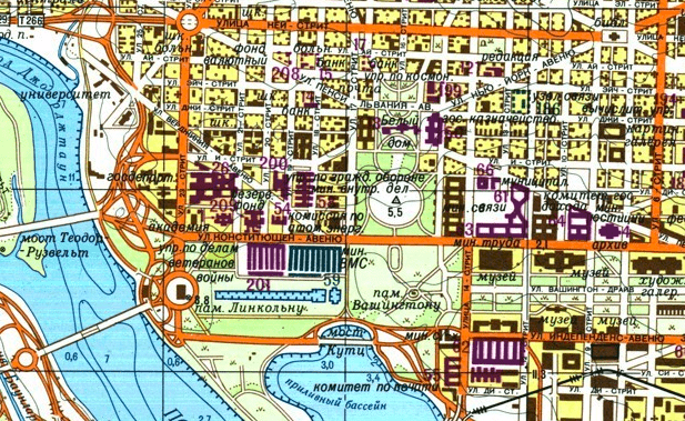 A map of Washington, DC | © redatlasbook.com