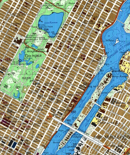 A map of New York City | © redatlasbook.com