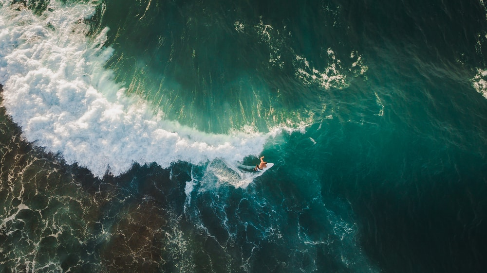 Surfer captured by drone | © Dmitry Pustovalov/Shutterstock