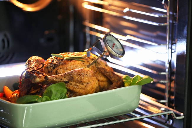 Use a meat thermometer to get a perfectly cooked turkey  © Africa Studio/Shutterstock