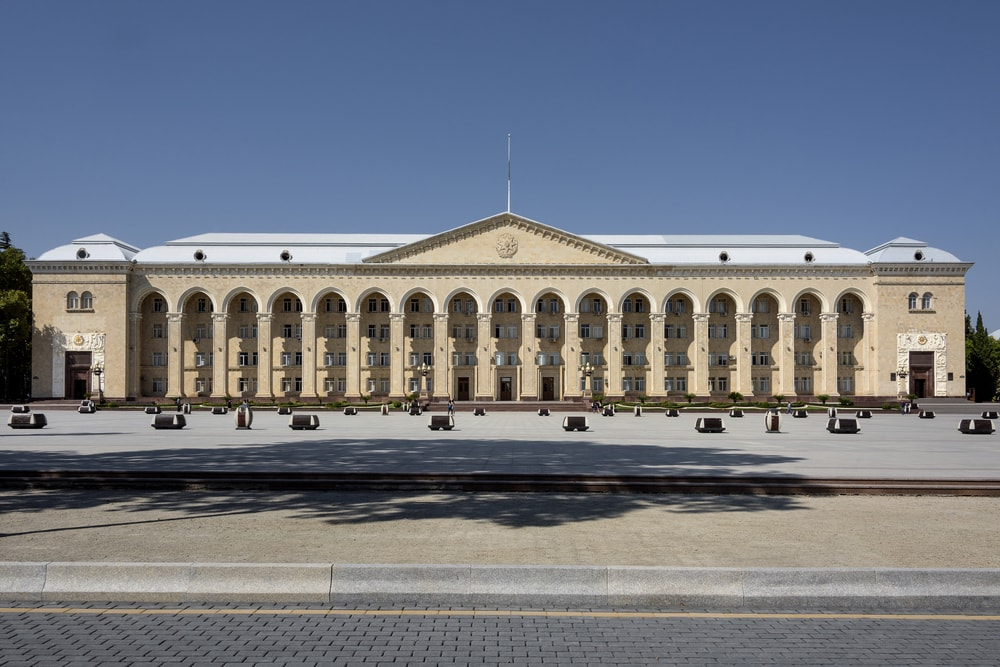 Government building in the Main Square of Ganja | © Rolf G Wackenberg/Shutterstock