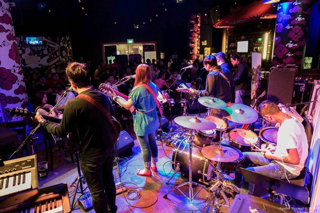 Singapore Hood Bar Band Stage