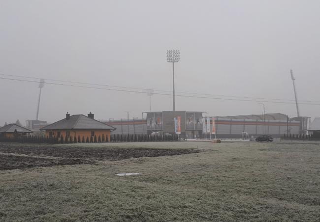 Termalica Stadium Northern Irishman in Poland Nieciecza