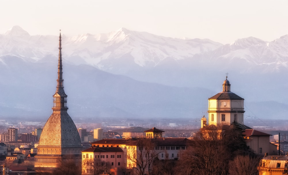 Turin and the beautiful Alps beyond   Di Marco Saracco/Shutterstock