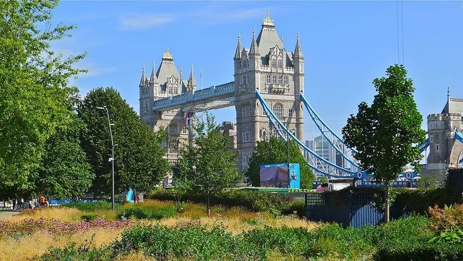 View of Tower Bridge from Potters Fields