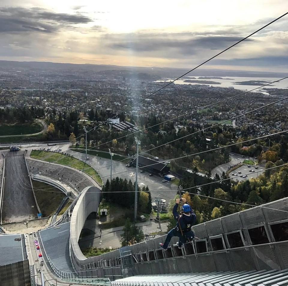 Ziplining with a view | Courtesy of Holmenkollen
