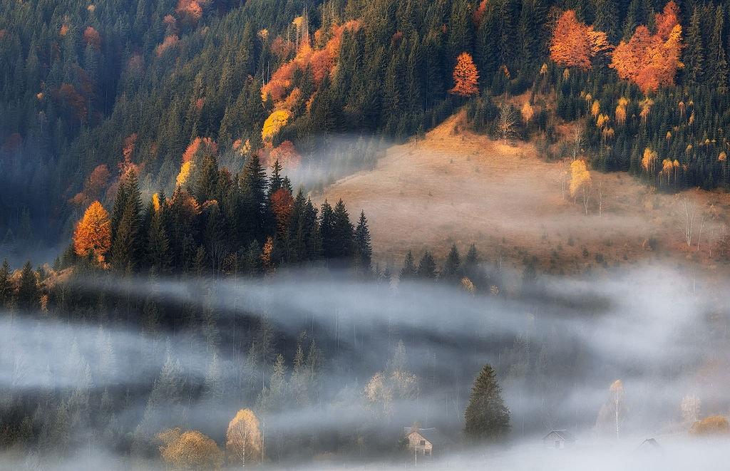 Ukraine, Alpine village Dzembronya