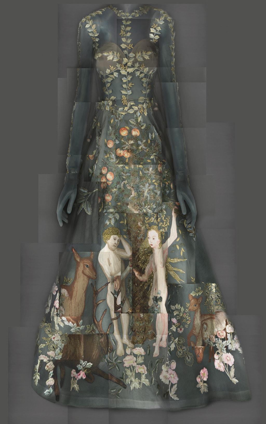 Evening Dress, Maria Grazia Chiuri and Pierpaolo Piccioli for Valentino, spring/summer 2014 haute couture; Courtesy of Valentino S.p.A. Image courtesy of The Metropolitan Museum of Art, Digital Composite Scan by Katerina Jebb