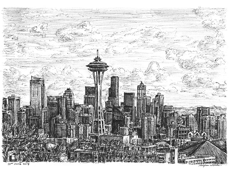 British Artist Draws Incredible Cityscapes Entirely From Memory