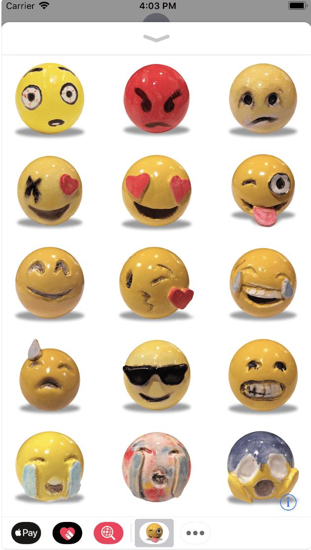 "Emojis by Laura Owens | Image via the <a href=""https://itunes.apple.com/us/app/emojis-by-laura-owens/id1333657586?mt=8"" target=""_blank"" rel=""noopener"">Apple App Store</a>"