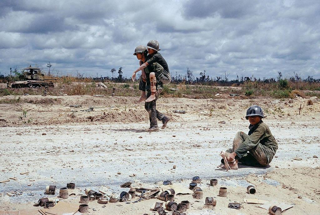 South Vietnamese Troops   © manhhai/Flickr (original by Bruno Barbey)