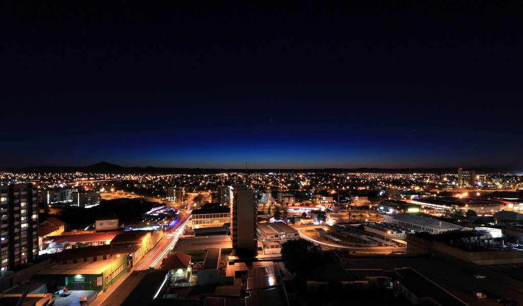 Windhoek at night