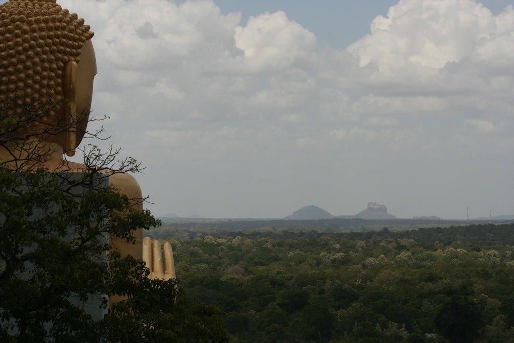 Buddha looks at Sigiriya