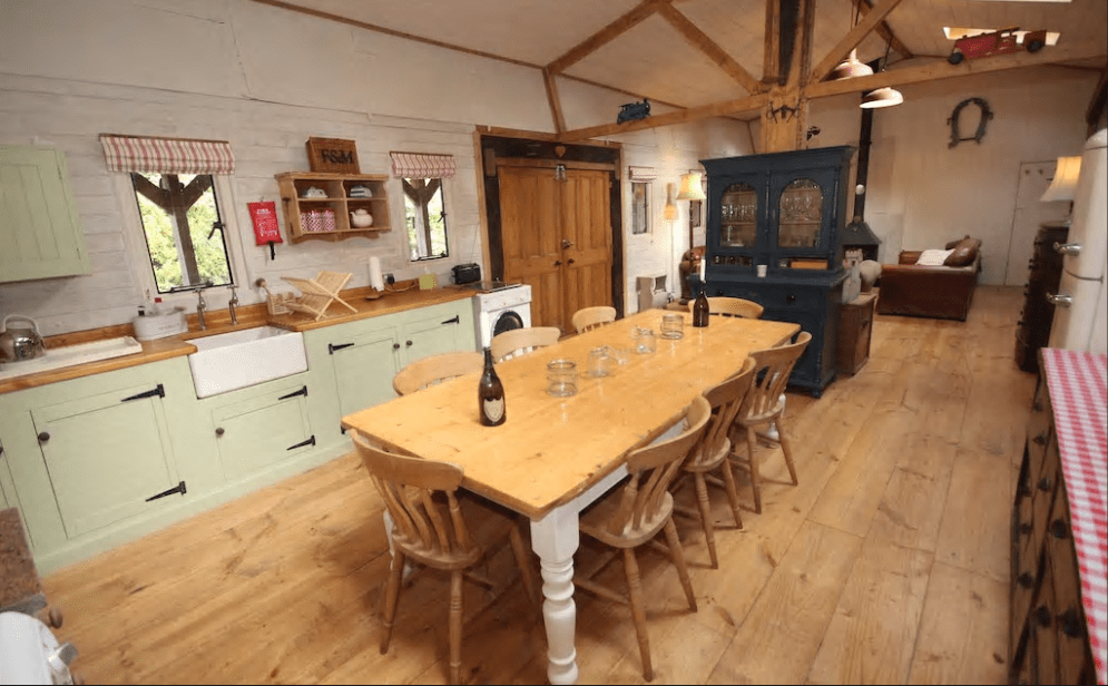 6. Red Oak Barn within the New Forest National Park Courtesy of AirBnb