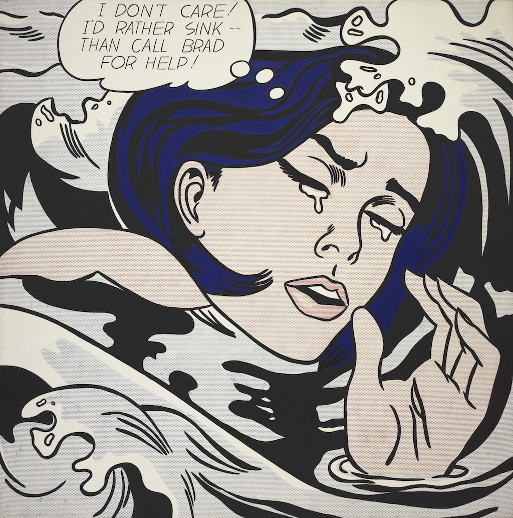 Roy Lichtenstein. <em>Drowning Girl</em>. 1963. The Museum of Modern Art, New York | © Estate of Roy Lichtenstein.