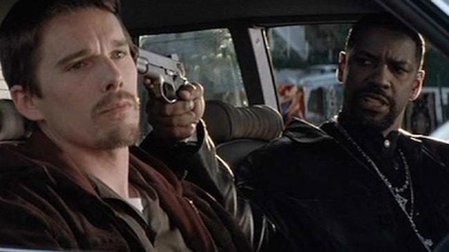 Ethan Hawke and Denzel Washington in <em>Training Day</em>   © Warner Bros.