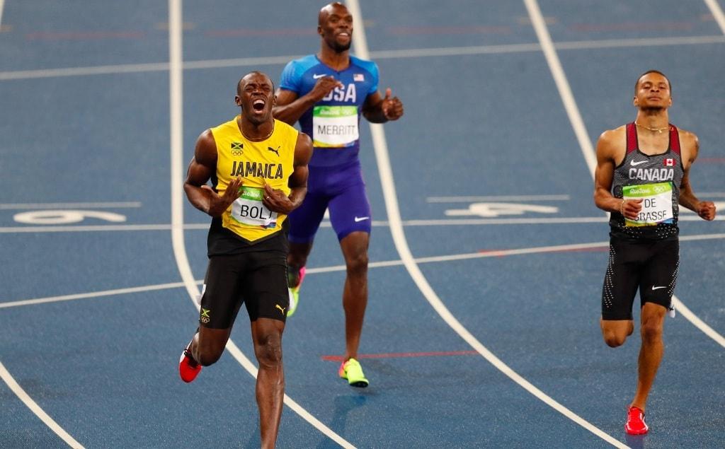Andre De Grasse challenges Usain Bolt at the Rio 2016 Olympics   © Fernando Frazão/Agência Brasil/Wikimedia Commons