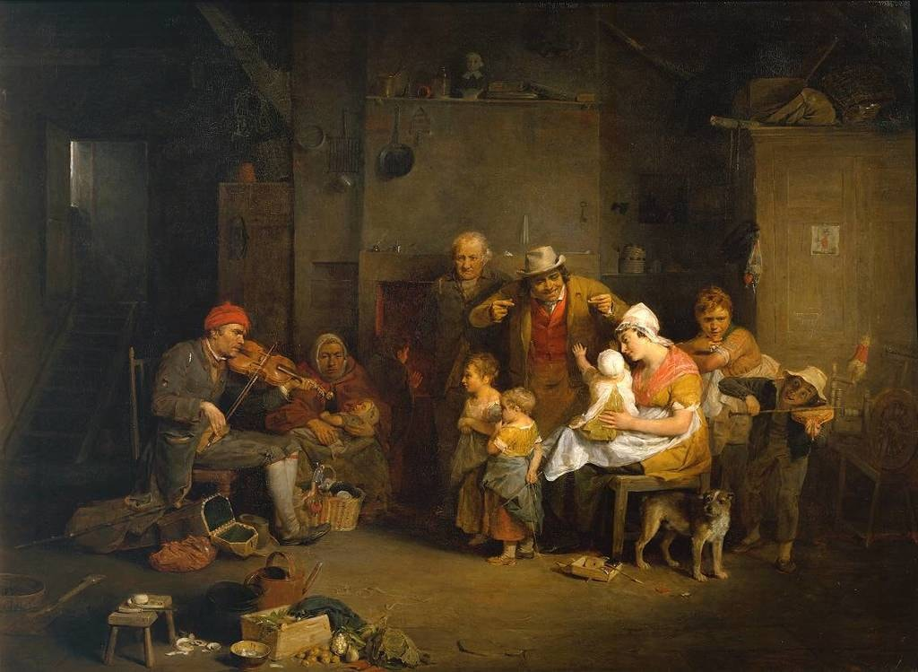 The Blind Fiddler 1806 by Sir David Wilkie 1785-1841