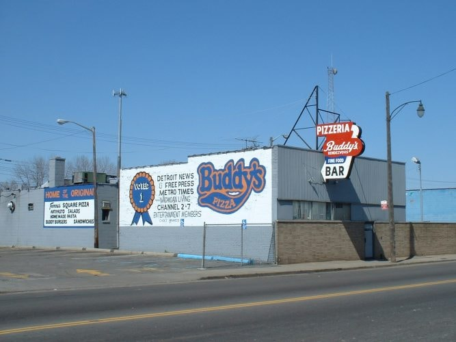 The original Buddy's at the corner of 6 Mile Road and Conant Street | Courtesy of Buddy's Pizza