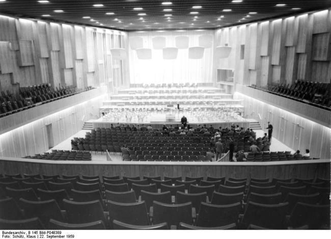 Berlin, Sendesaal des SFB in der Masurenallee