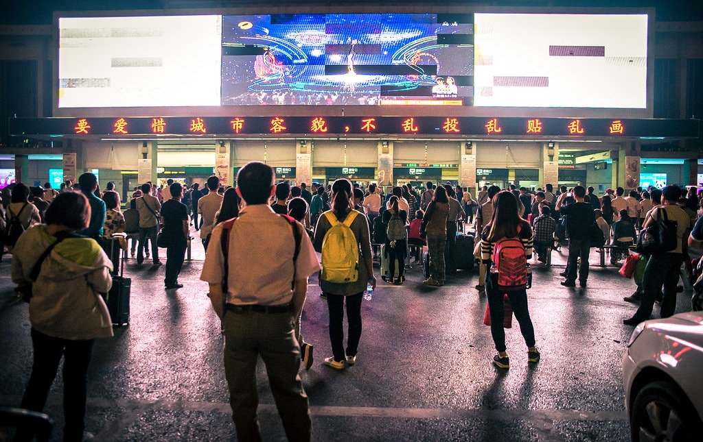 china crowds