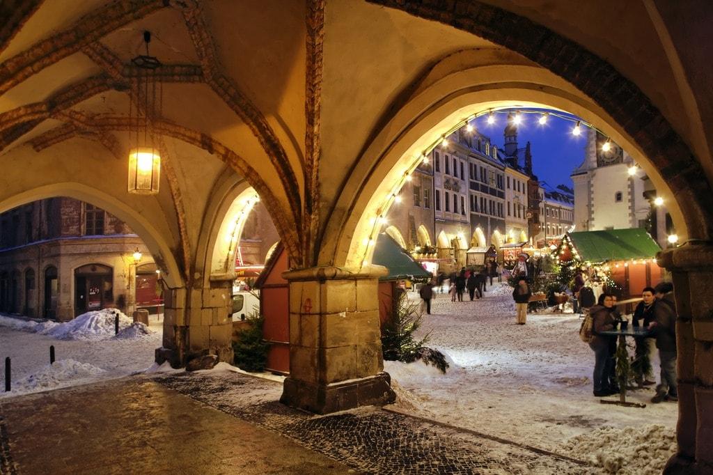 Weihnachtsmarkt am Untermarkt in Goerlitz