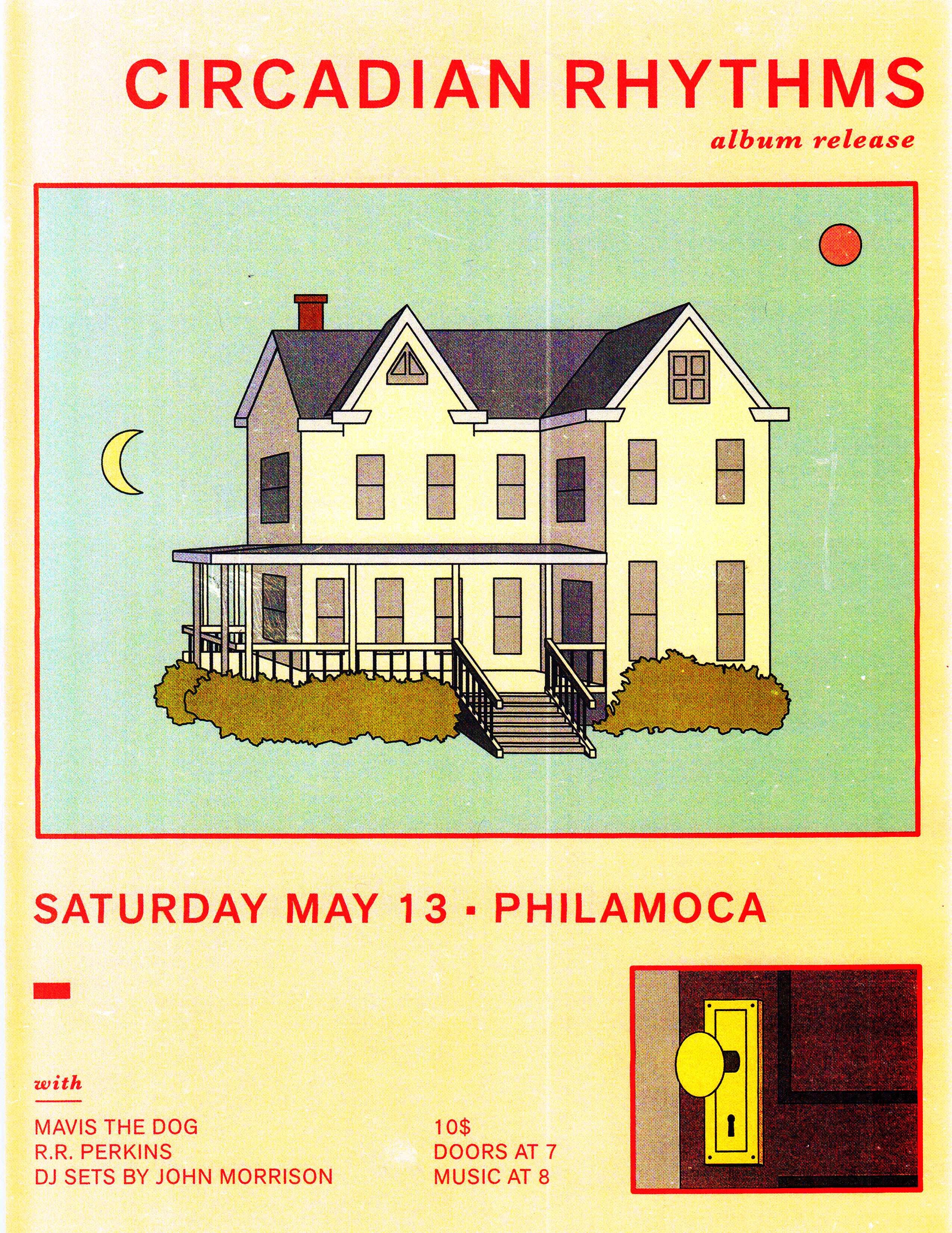 Poster for Circadian Rhythms' record release show   © George Wylesol