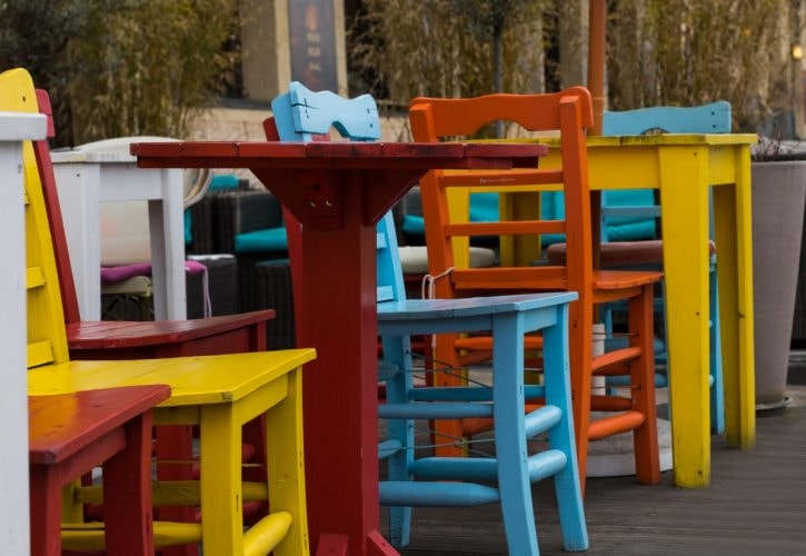Colorful patio | © Pxhere