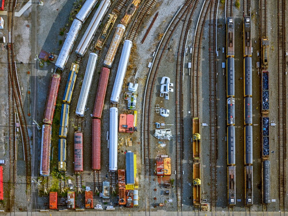 Coney Island Subway Yard. ©Jeffrey Milstein/Courtesy of Benrubi Gallery, NYC.
