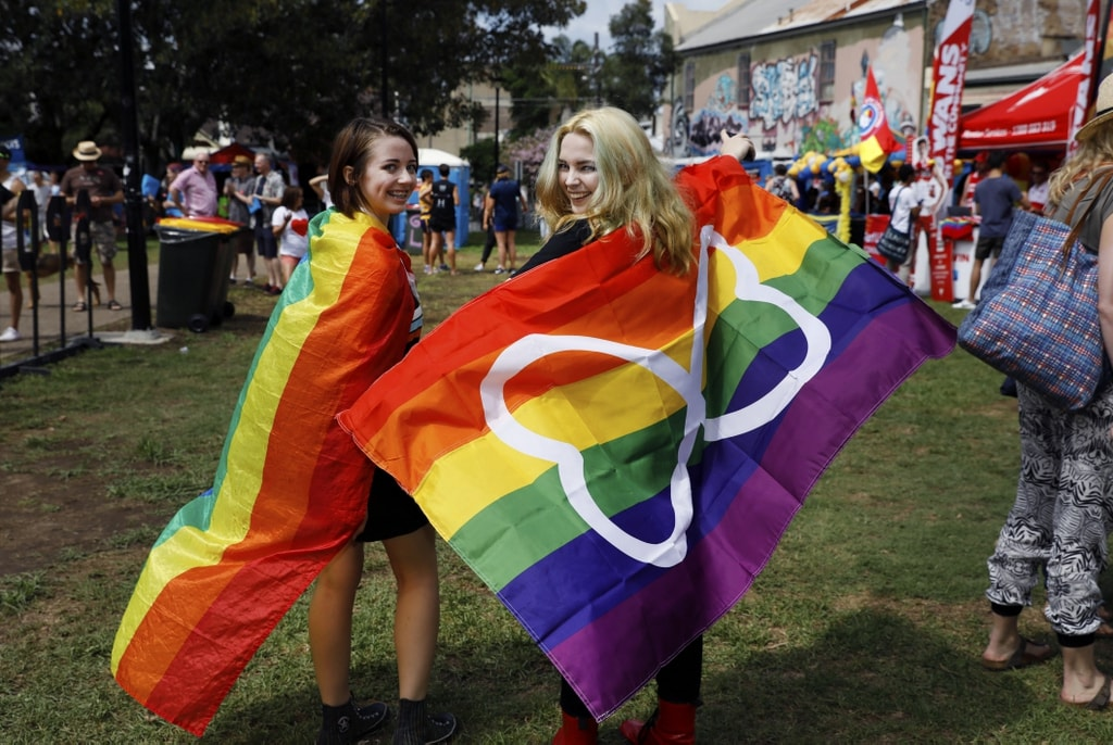 Couple at Mardi Gras Fair Day | © Courtesy of Ann-Marie Calilhanna/Sydney Gay and Lesbian Mardi Gras