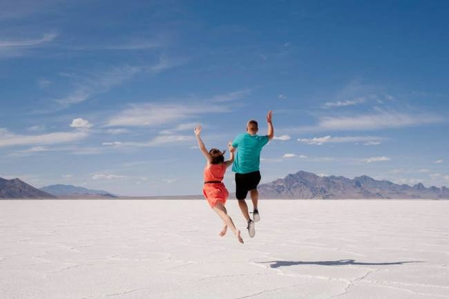 Couple at Salt Flats - Shea Drake