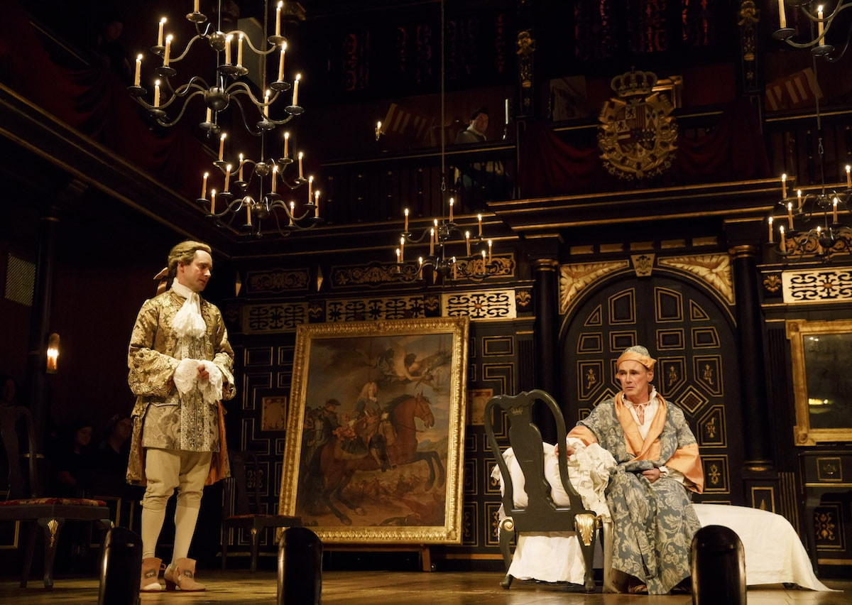 Sam Crane as Farinelli and Mark Rylance as King Philippe V | © Joan Marcus