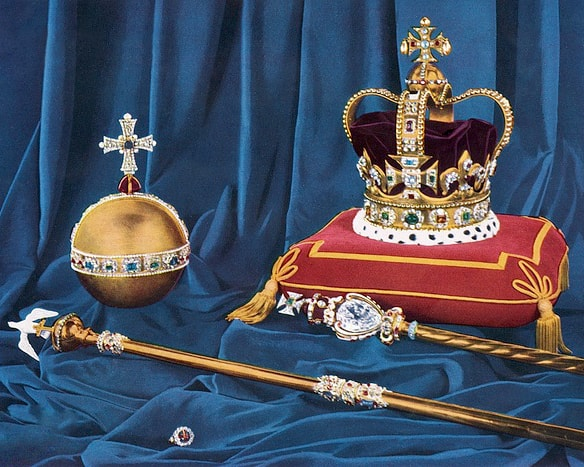 "<a href=""https://commons.wikimedia.org/wiki/File:Crown_Jewels.jpg"" target=""_blank"" rel=""noopener"">UK Government (Public Domain) via WikiCommons </a>"