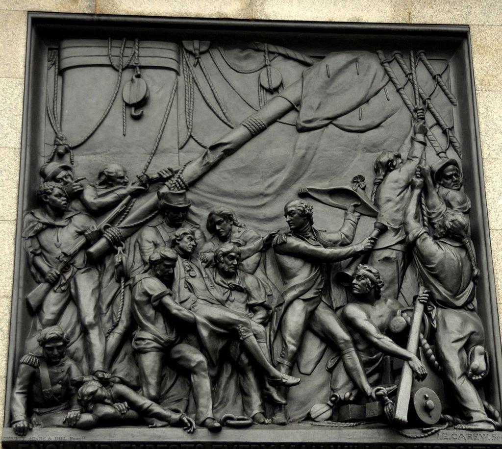 Death of Nelson at Trafalgar relief