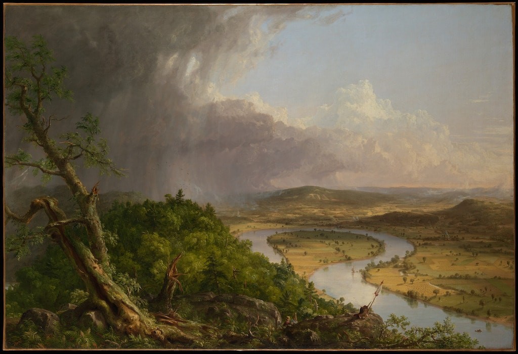 Thomas Cole, <em>View from Mount Holyoke, Northampton, Massachusetts, after a Thunderstorm</em>—<em>The Oxbow</em>, 1836. Courtesy of The Metropolitan Museum of Art