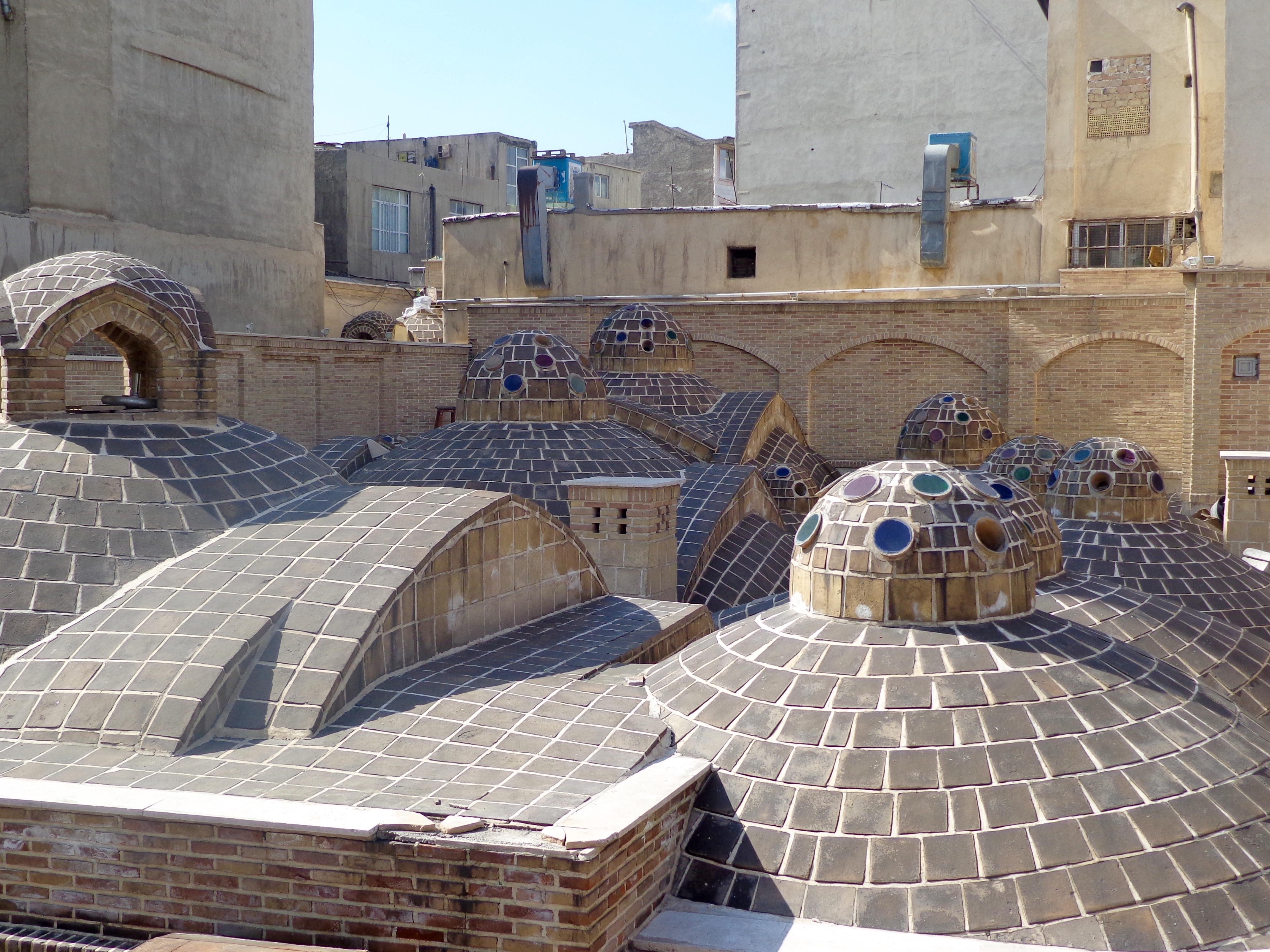 Rooftop of Navab Bathhouse in Oudlajan   © Pontia Fallahi