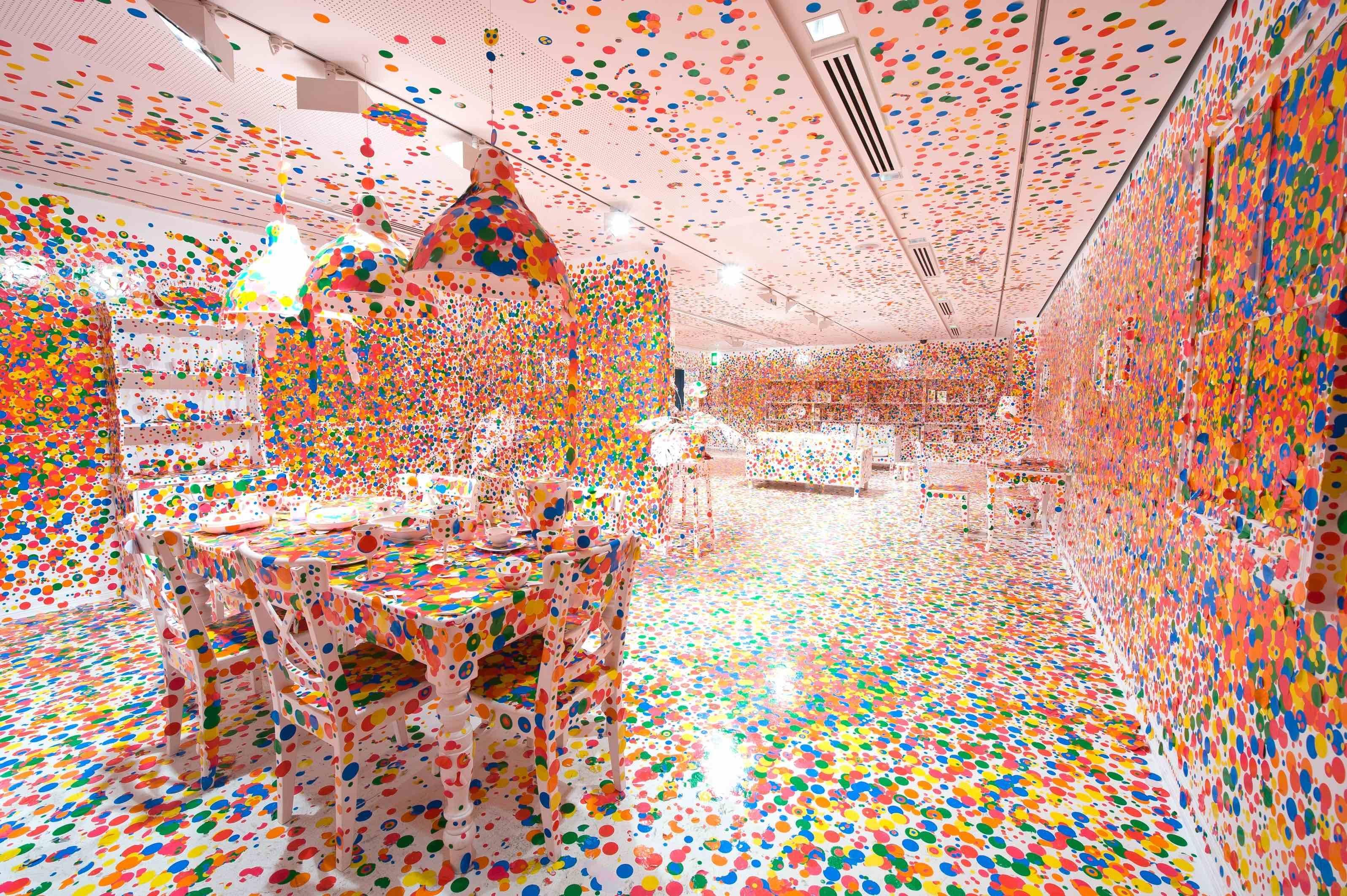Yayoi Kusama, The Obliteration Room, 2002 to present   © Yayoi Kusama/Queensland Art Gallery, Brisbane, Australia. Photograph: QAGOMA Photography.