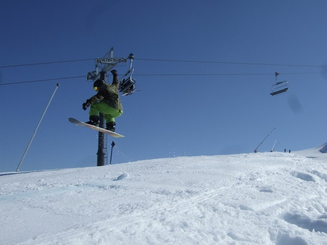 Flying on Coronet Peak