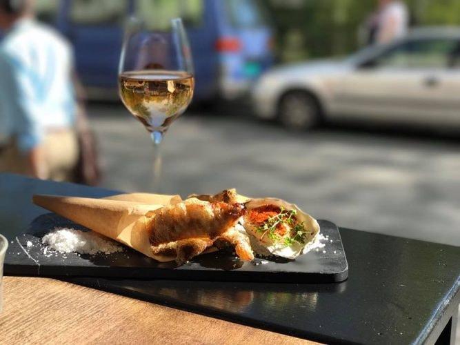 Fried sardines and rose wine at Le Benjamin Bar & Bistro
