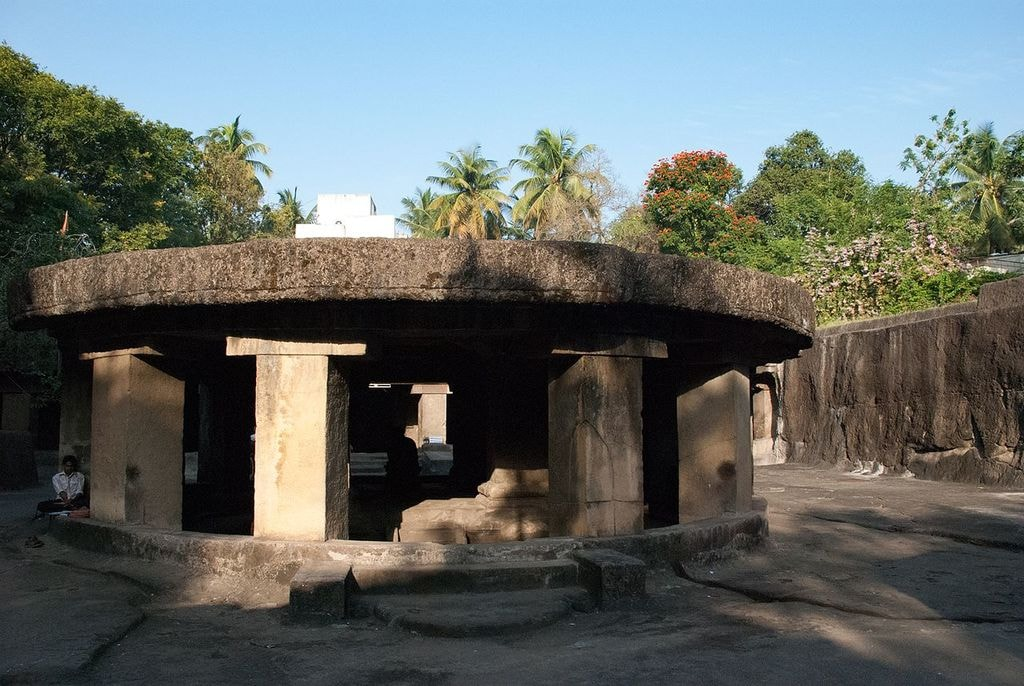 Front Approach of Pataleshwar Cave Temple, Pune