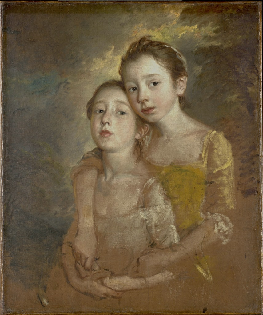 Thomas Gainsborough, 'Painter's Daughters with a Cat', c.1760–1761 | Courtesy of the National Gallery, London